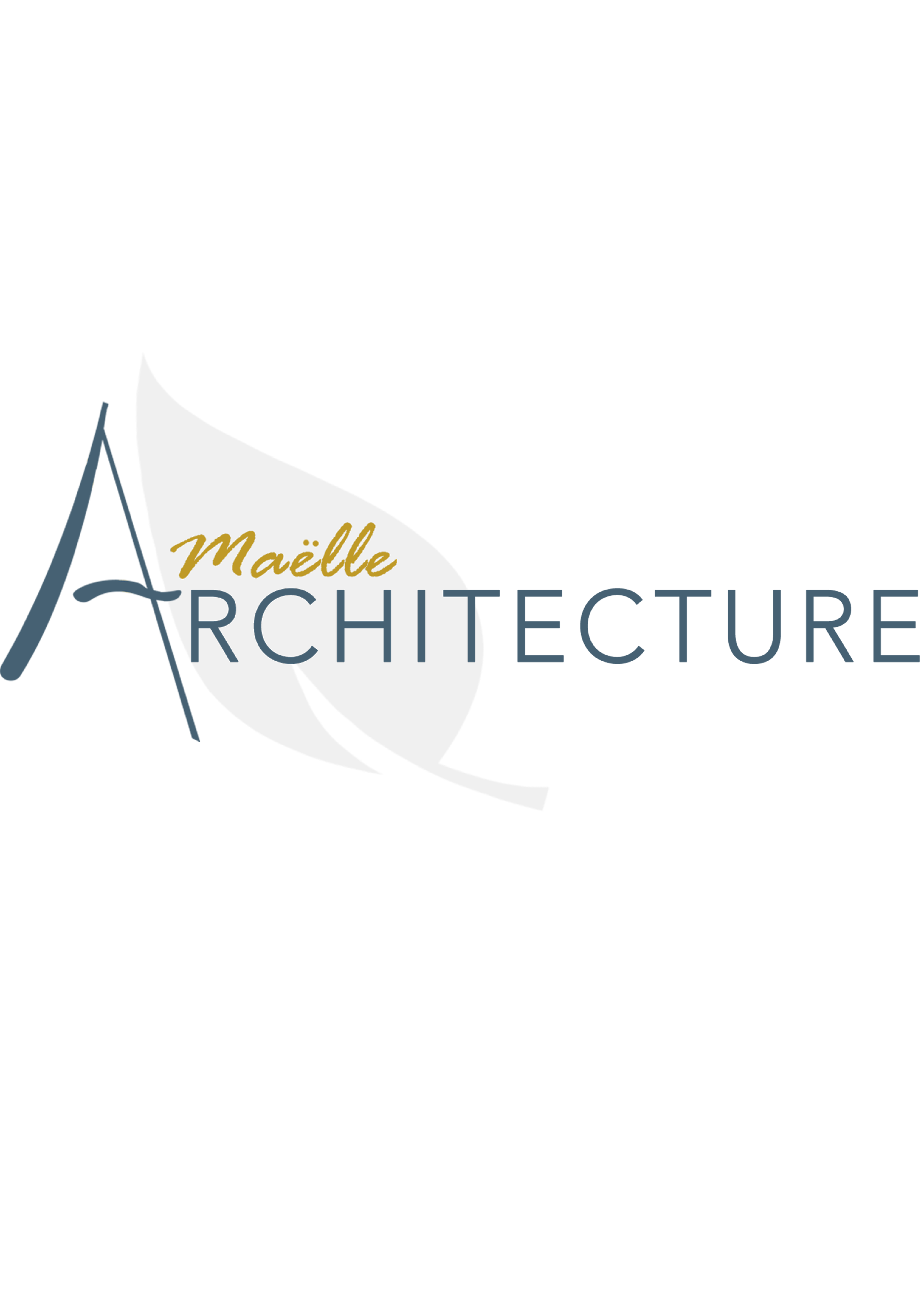 Logo agence couleurs Maëlle Architecture